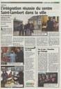CSL   Article L'Avenir Namur 11 02 2017   L'intégration réussie du CSL dans la ville