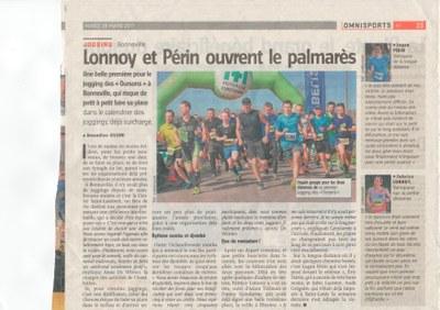 L'Avenir 17 03 28   Jogging des Oursons