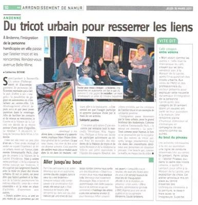 Tricot urbain L'Avenir 16 mars 2017